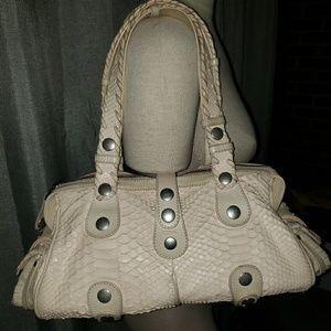 Chloe python Silverado bag, cream color. Preowned